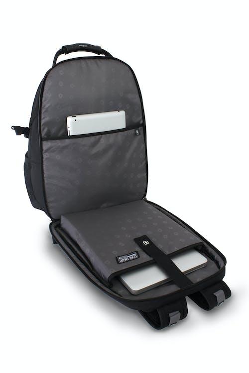SWISSGEAR 6751 SCANSMART LAPTOP BACKPACK SCANSMART LAY-FLAT TECHNOLOGY