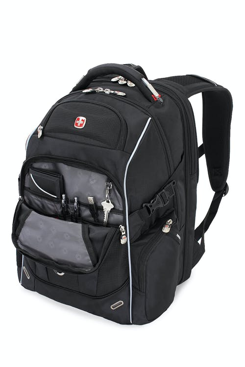 SWISSGEAR 6752 SCANSMART LAPTOP BACKPACK DEEP FRONT POCKET AND ORGANIZER