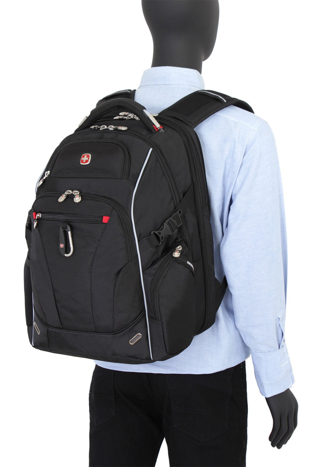 80dd1d6d1e SWISSGEAR 6752 ScanSmart TSA Laptop Backpack - Black