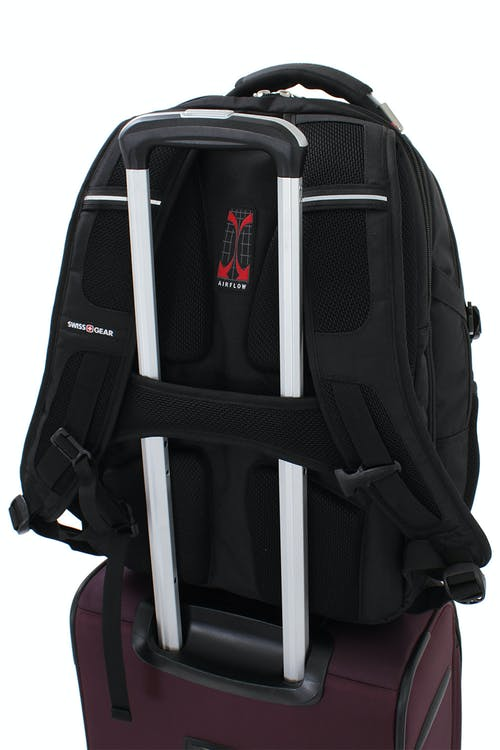 SWISSGEAR 6752 SCANSMART LAPTOP BACKPACK BUILT-IN ADD-A-BAG PANEL