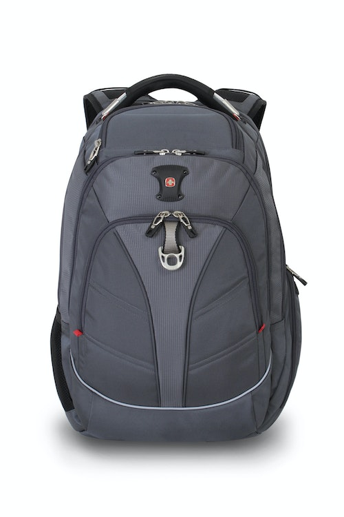 SWISSGEAR 6758 SCANSMART LAPTOP BACKPACK FRONT PANEL METAL D-RING AND WEB LOOP