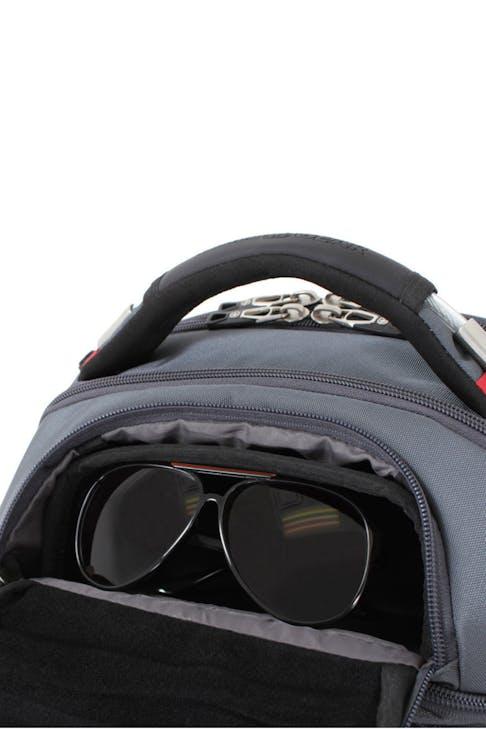 SWISSGEAR 6758 SCANSMART LAPTOP BACKPACK FLEECE LINED SUNGLASSES
