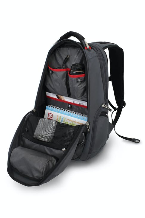 SWISSGEAR 6758 SCANSMART LAPTOP BACKPACK LARGE CAPACITY MAIN COMPARTMENT WITH MULTIPLE ORGANIZATION POCKETS