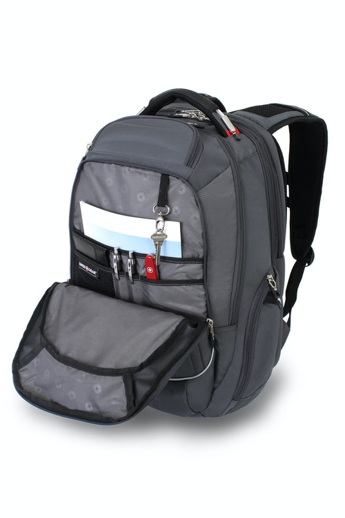 SWISSGEAR 6758 SCANSMART LAPTOP BACKPACK LARGE QUICK-ACCESS, FRONT ZIPPERED COMPARTMENT