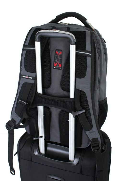 SWISSGEAR 6758 SCANSMART LAPTOP BACKPACK BUILT-IN ADD-A-BAG PANEL