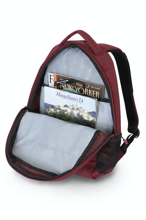 SWISSGEAR 6906 BACKPACK A LARGE MAIN COMPARTMENT WITH A BUILT-IN PADDED FILE POUCH
