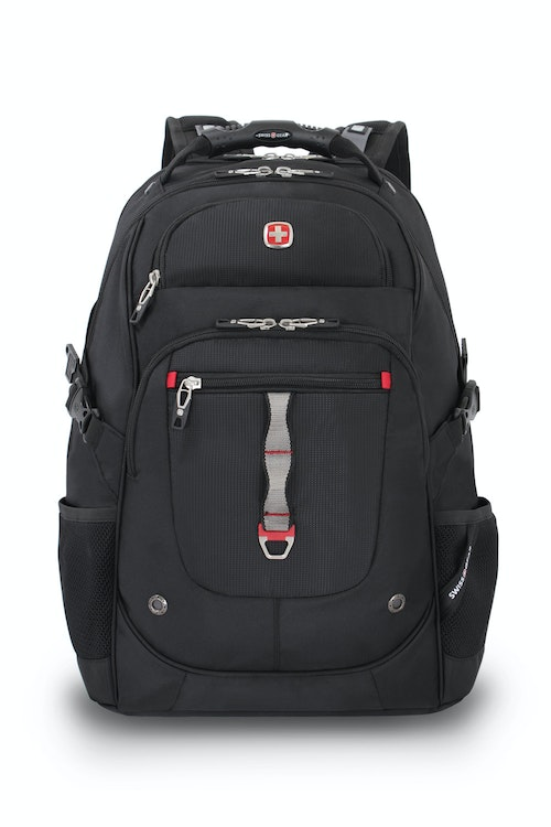SWISSGEAR 6968 SCANSMART LAPTOP BACKPACK FRONT PANEL D-RING AND DAISY CHAIN WEB LOOP