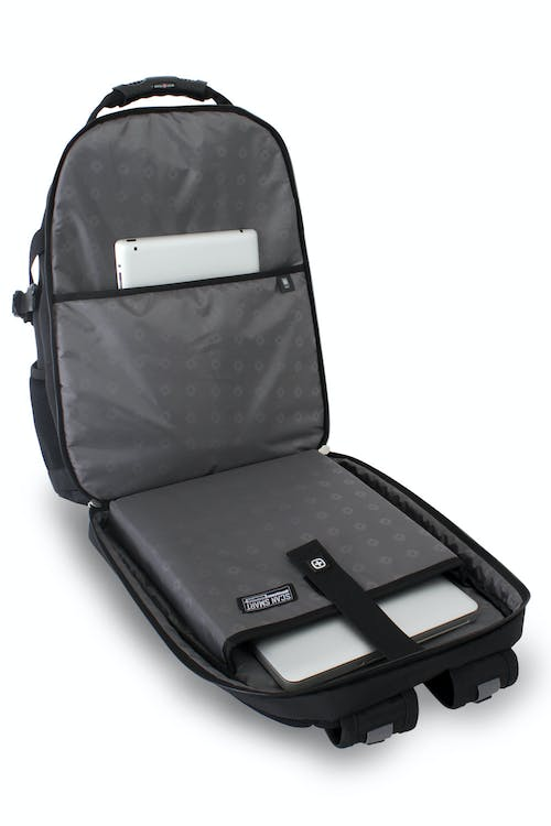 SWISSGEAR 6968 SCANSMART LAPTOP BACKPACK SCANSMART LAY-FLAT TECHNOLOGY