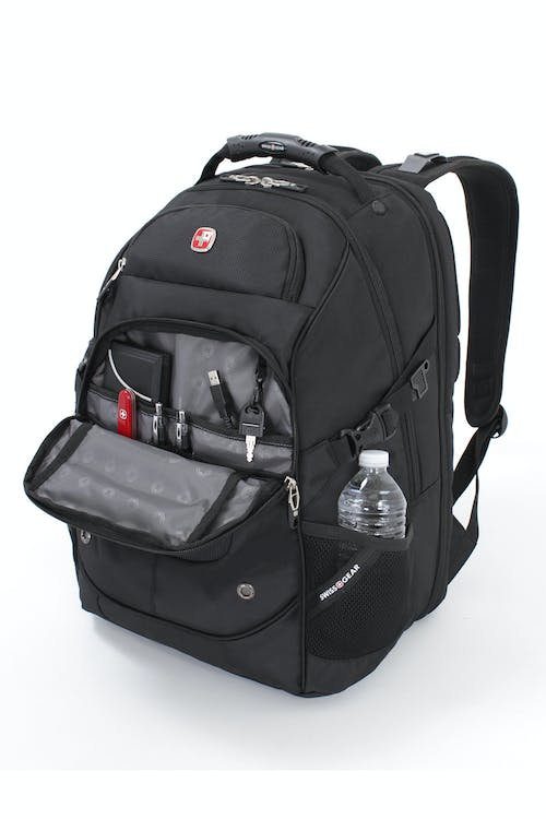 SWISSGEAR 6968 SCANSMART LAPTOP BACKPACK QUICK-ACCESS, FRONT ZIPPERED POCKET