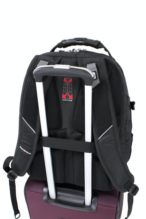 SWISSGEAR 6968 SCANSMART LAPTOP BACKPACK BUILT-IN BACK PANEL ADD-A-BAG STRAP