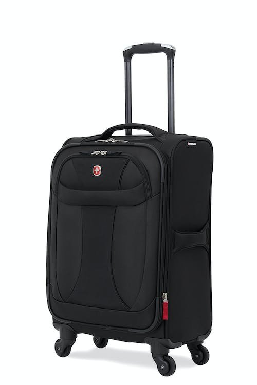 "SWISSGEAR 7208 20"" LITEWEIGHT CARRY-ON SPINNER LUGGAGE - BLACK"
