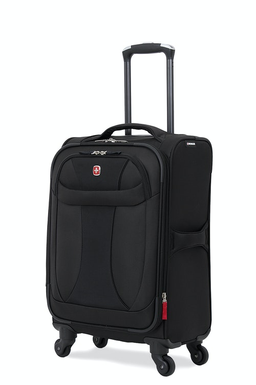 """SWISSGEAR 7208 20"""" LITEWEIGHT CARRY-ON SPINNER LUGGAGE - BLACK"""