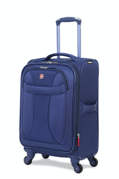 """SWISSGEAR 7208 20"""" LITEWEIGHT CARRY-ON SPINNER LUGGAGE- BLUE"""