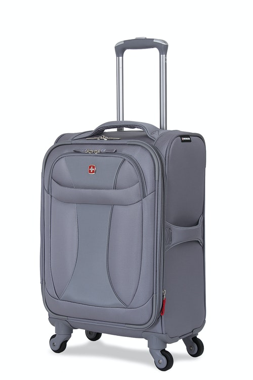 """SWISSGEAR 7208 20"""" LITEWEIGHT CARRY-ON SPINNER LUGGAGE - GREY"""
