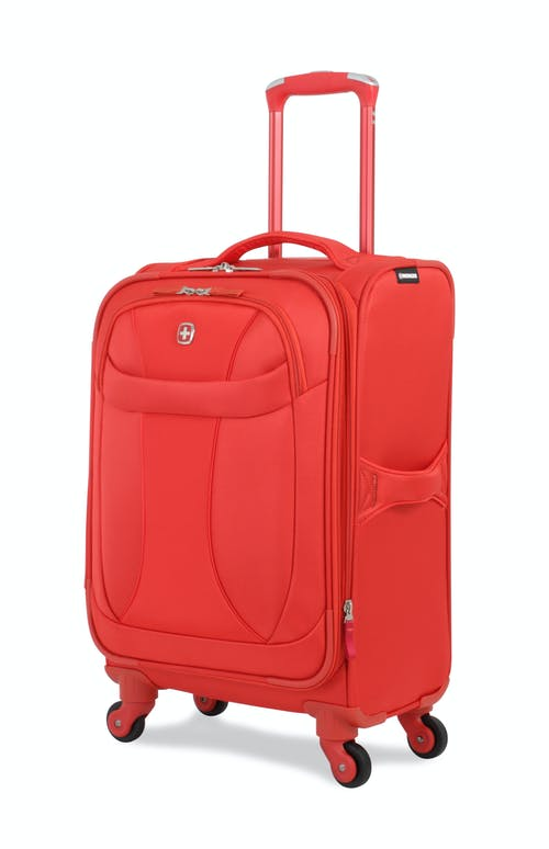 "SWISSGEAR 7208 20"" LITEWEIGHT CARRY-ON SPINNER LUGGAGE - ORANGE"