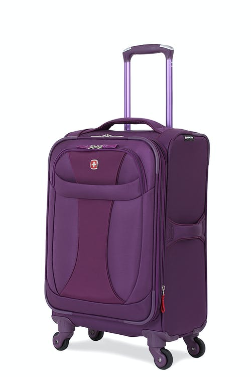 "SWISSGEAR 7208 20"" LITEWEIGHT CARRY-ON SPINNER LUGGAGE - PURPLE"