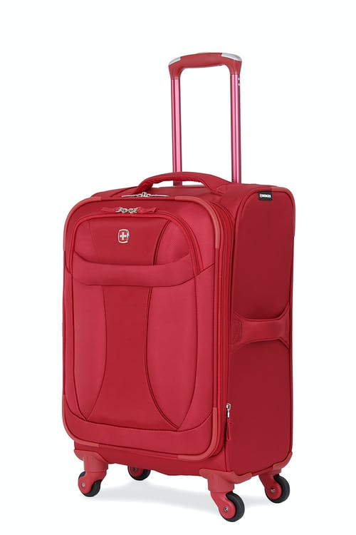 "SWISSGEAR 7208 20"" LITEWEIGHT CARRY-ON SPINNER LUGGAGE - DEEP RED"