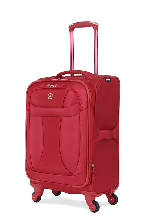 """SWISSGEAR 7208 20"""" LITEWEIGHT CARRY-ON SPINNER LUGGAGE - DEEP RED"""