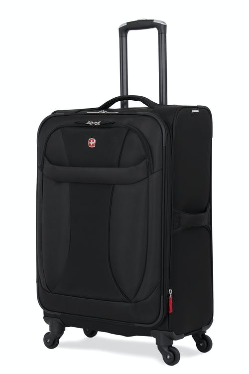 "SWISSGEAR 7208 24"" EXPANDABLE LITEWEIGHT SPINNER LUGGAGE - BLACK"