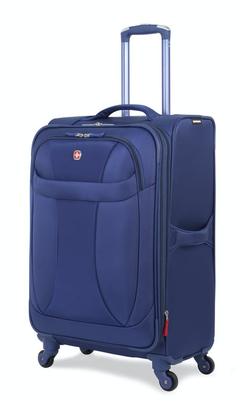 """SWISSGEAR 7208 24"""" EXPANDABLE LITEWEIGHT SPINNER LUGGAGE- BLUE"""