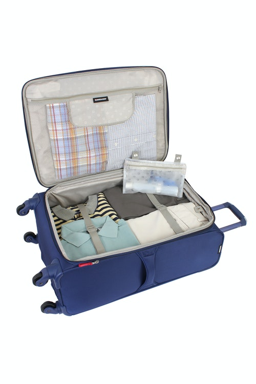 """SWISSGEAR 7208 20"""" LITEWEIGHT CARRY-ON SPINNER LUGGAGE ADJUSTABLE TIE-DOWN STRAPS"""