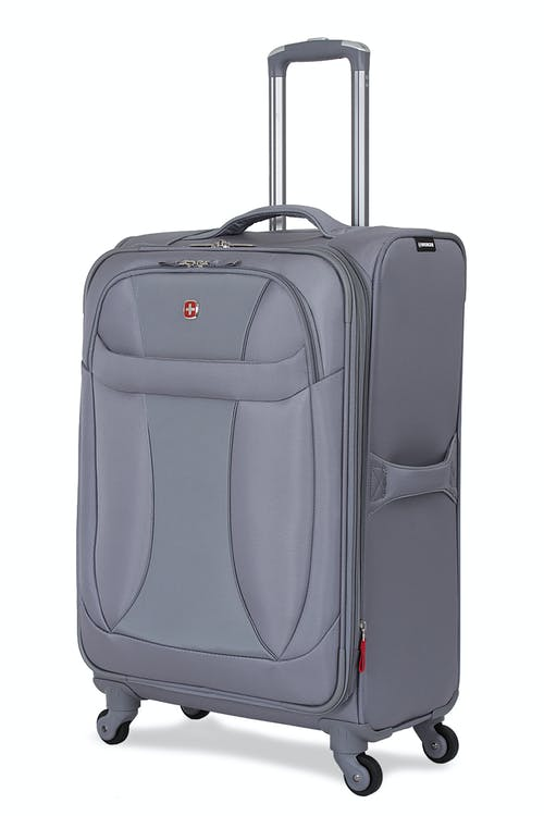 "SWISSGEAR 7208 24"" EXPANDABLE LITEWEIGHT SPINNER LUGGAGE - GREY"