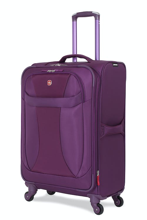 "SWISSGEAR 7208 24"" EXPANDABLE LITEWEIGHT SPINNER LUGGAGE - PURPLE"