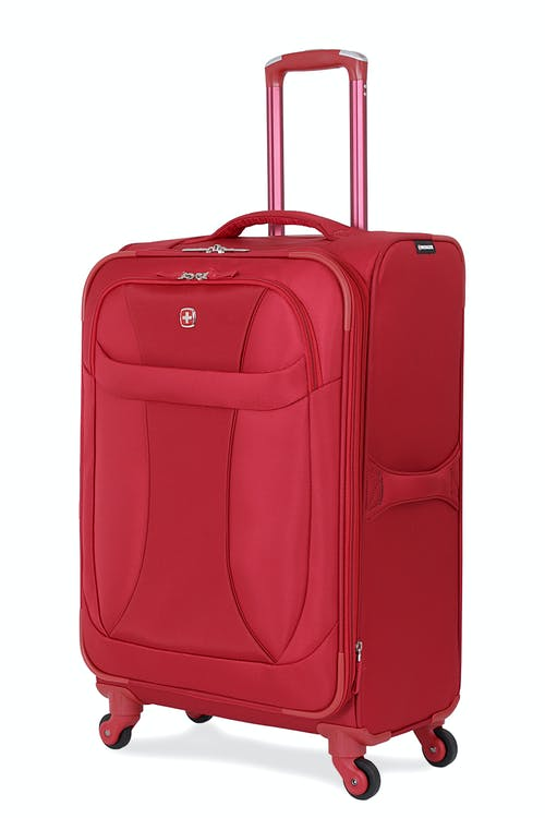 "SWISSGEAR 7208 24"" EXPANDABLE LITEWEIGHT SPINNER LUGGAGE - RED"