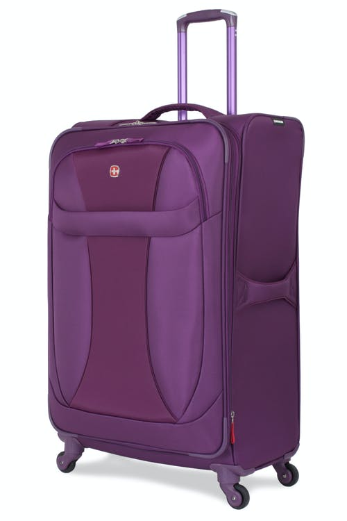"""SWISSGEAR 7208 29"""" EXPANDABLE LITEWEIGHT SPINNER LUGGAGE - PURPLE"""