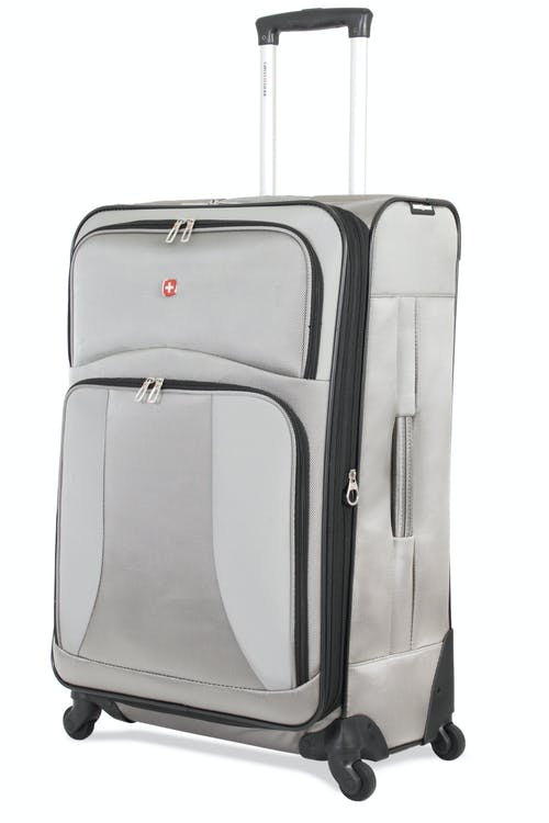 "SWISSGEAR 7211 28"" EXPANDABLE CARRY-ON SPINNER LUGGAGE IN PEWTER"