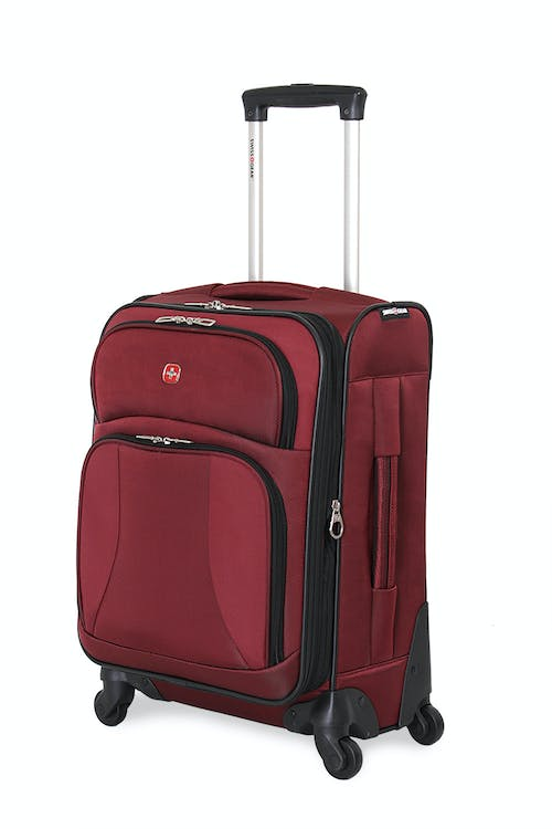 "SWISSGEAR 7211 20"" EXPANDABLE CARRY-ON SPINNER LUGGAGE IN BURGUNDY"