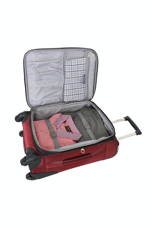 "SWISSGEAR 7211 EXPANDABLE 20"" SPINNER LUGGAGE ADJUSTABLE TIE-DOWN STRAPS"