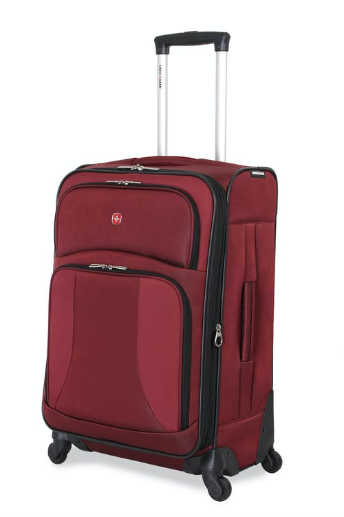 "SWISSGEAR 7211 24"" EXPANDABLE CARRY-ON SPINNER LUGGAGE IN BURGUNDY"