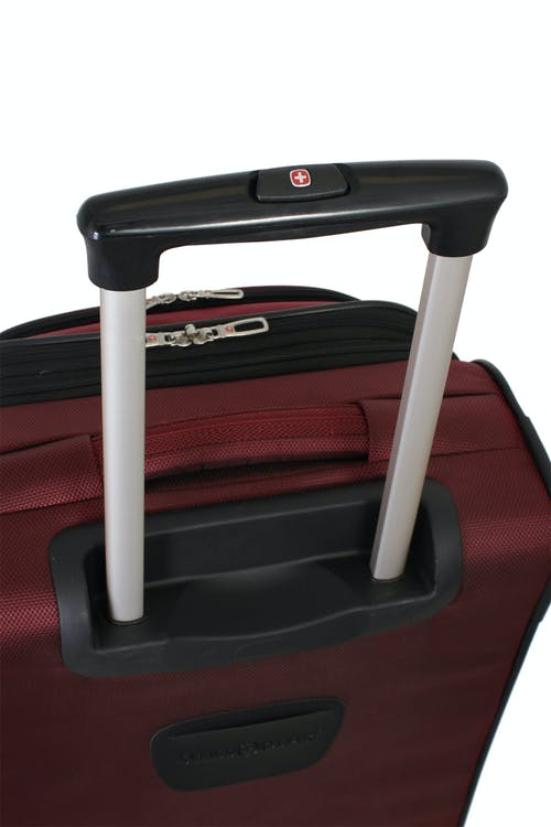 SWISSGEAR 7211 EXPANDABLE SPINNER LUGGAGE ALUMINUM PUSH BUTTON LOCKING TELESCOPIC HANDLE