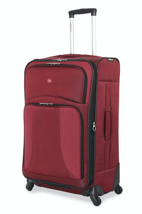 "SWISSGEAR 7211 28"" EXPANDABLE CARRY-ON SPINNER LUGGAGE IN BURGUNDY"