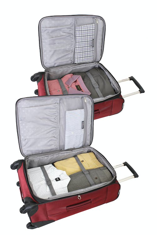 "SWISSGEAR 7211 EXPANDABLE 20"" and 24"" SPINNER LUGGAGE INTERIOR"