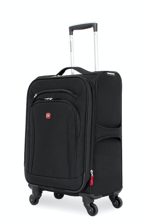 "Swissgear 7291 20"" Expandable Liteweight Carry-On Spinner Luggage - Black"