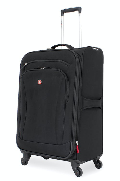 "SWISSGEAR 7291 24"" Expandable Liteweight Spinner - Black Luggage"