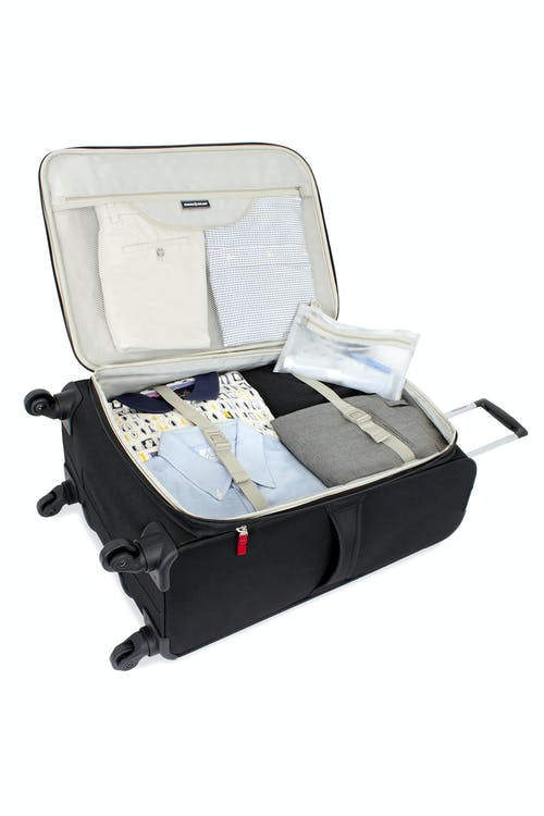 """SWISSGEAR 7291 24"""" EXPANDABLE LITEWEIGHT SPINNER LUGGAGE ADJUSTABLE TIE-DOWN STRAPS"""