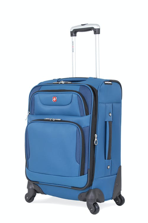 "SWISSGEAR 7297 20"" EXPANDABLE CARRY-ON SPINNER LUGGAGE - BLUE"
