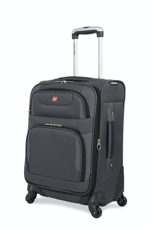 """SWISSGEAR 7297 20"""" EXPANDABLE CARRY-ON SPINNER LUGGAGE - GREY"""