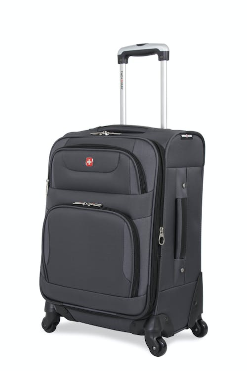 "SWISSGEAR 7297 20"" EXPANDABLE CARRY-ON SPINNER LUGGAGE - GREY"