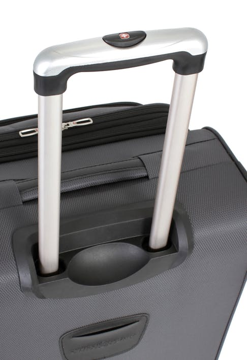 """SWISSGEAR 7297 20"""" EXPANDABLE CARRY-ON SPINNER LUGGAGE ALUMINUM TELESCOPING LOCKING HANDLE"""