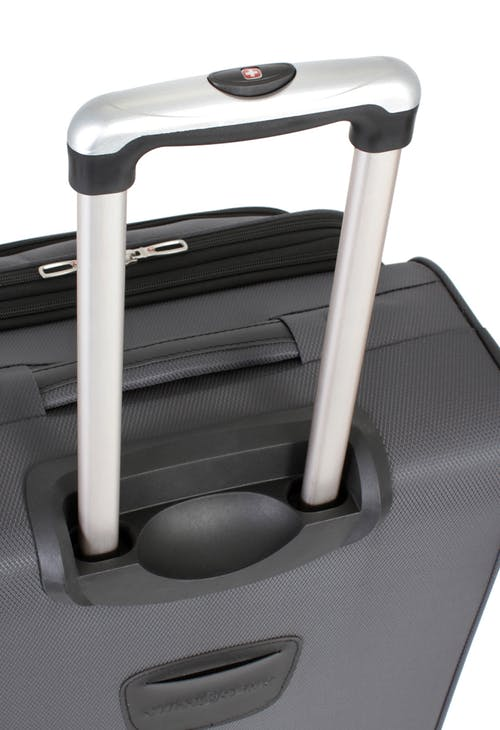 "SWISSGEAR 7297 20"" EXPANDABLE CARRY-ON SPINNER LUGGAGE ALUMINUM TELESCOPING LOCKING HANDLE"