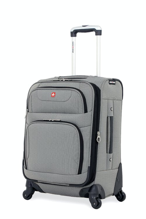 "SWISSGEAR 7297 20"" EXPANDABLE CARRY-ON SPINNER LUGGAGE - PEWTER"