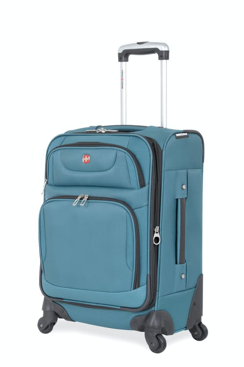 "SWISSGEAR 7297 20"" EXPANDABLE CARRY-ON SPINNER LUGGAGE - TEAL"