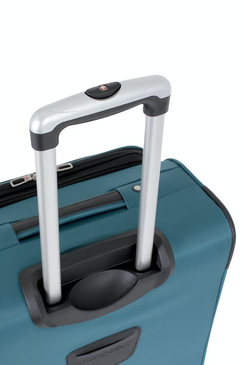 "SWISSGEAR 7297 20"" EXPANDABLE CARRY-ON SPINNER LUGGAGE ALUMINUM LOCKING PULL HANDLE"