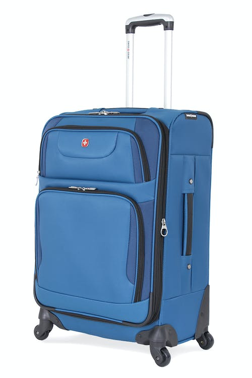 "SWISSGEAR 7297 24"" EXPANDABLE SPINNER LUGGAGE- BLUE"