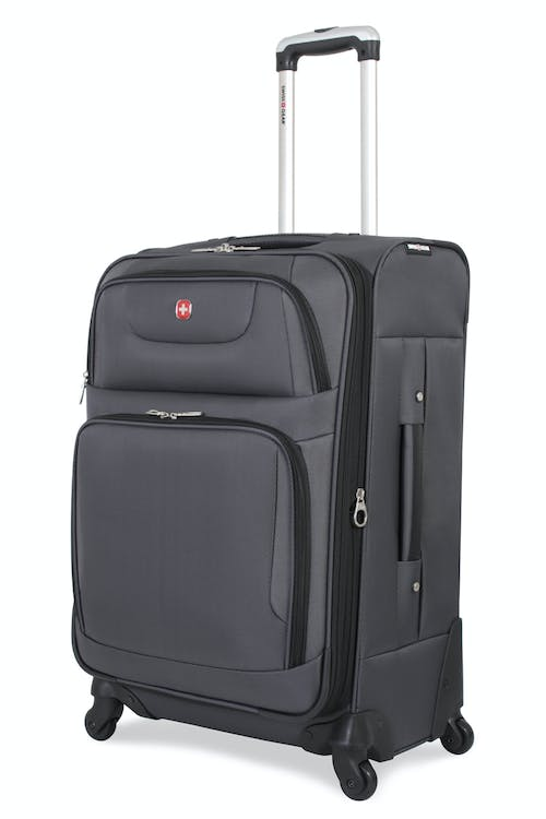 "SWISSGEAR 7297 24"" EXPANDABLE SPINNER LUGGAGE - GREY"