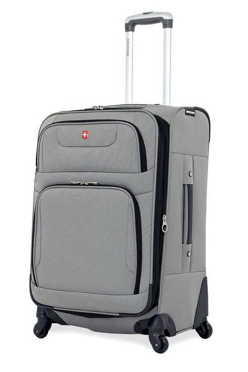 "SWISSGEAR 7297 24"" EXPANDABLE SPINNER LUGGAGE - PEWTER"